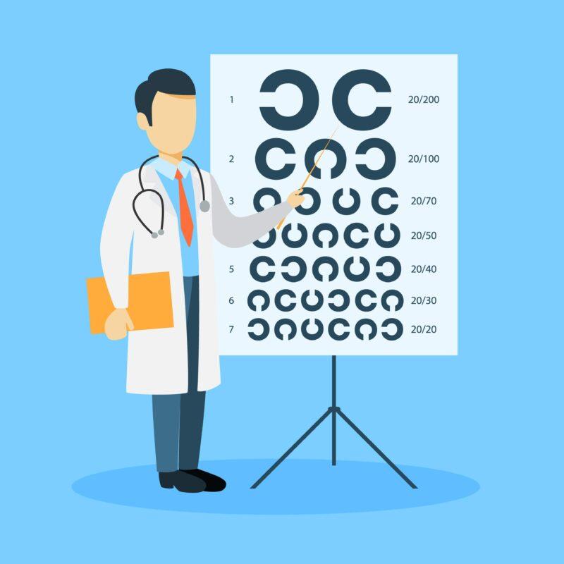 視力検査の画像
